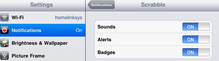 how to turn off notifications on ipad air