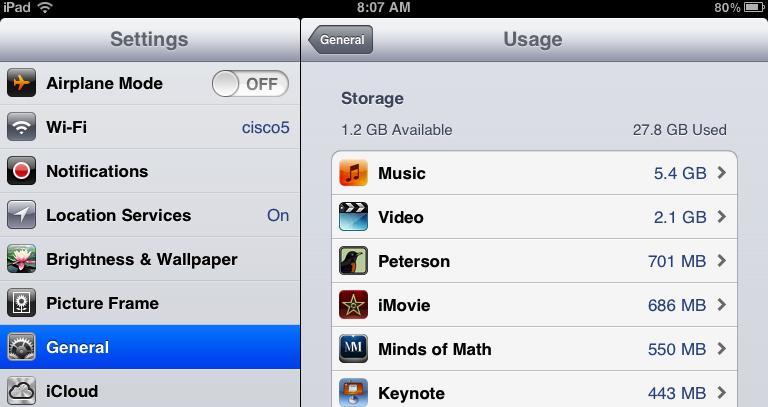 Setting screen app sizes