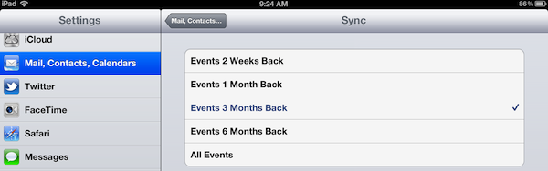 screenshot calendar sync