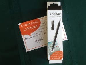 iPad stylus duo with note