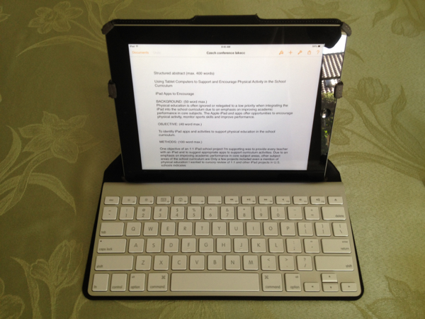 iPad keyboard stand