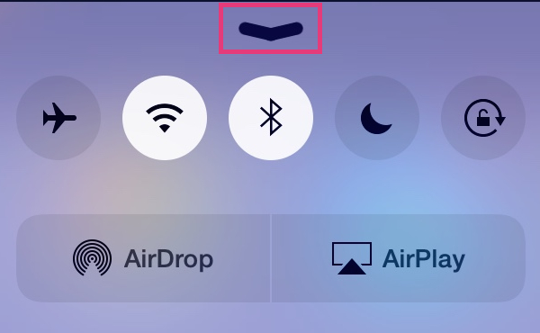 put Control Center away