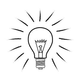 sketch of lightbulb