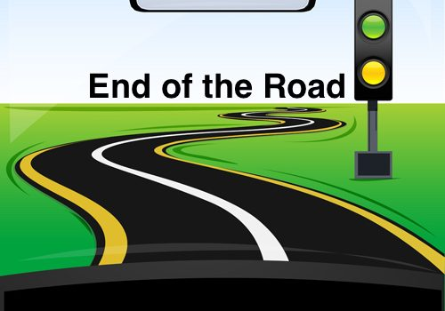 end of road graphic