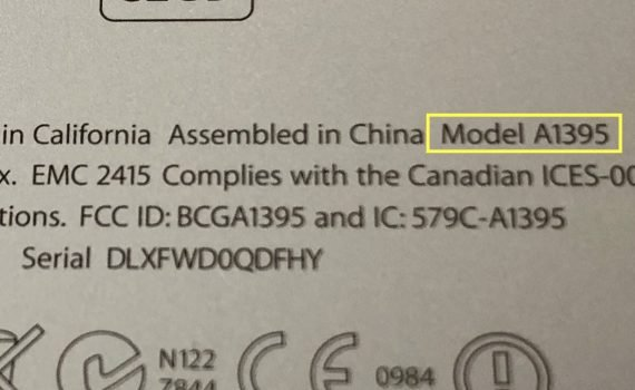 iPad model info